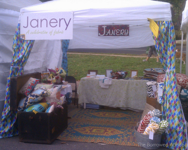 Art on the Avenue Janery Booth | TheBorrowedAbode.com