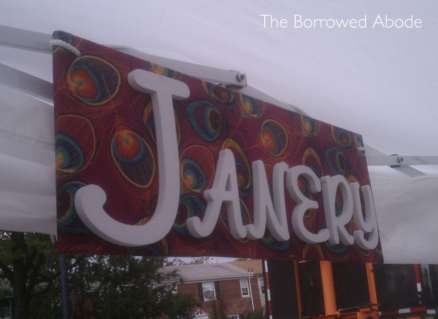 Art on the Avenue Janery Wooden Sign  | TheBorrowedAbode.com