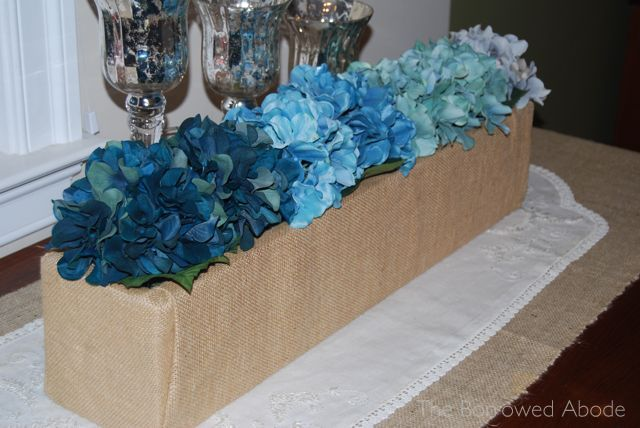 Teal Ombre Floral Planter Boxes | The Borrowed Abode