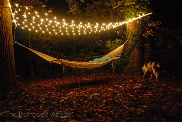 Cafe Lights Night Hammock | The Borrowed Abode