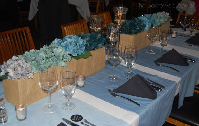 Ombre Teal Tablescape and Ombre Floral | The Borrowed Abode