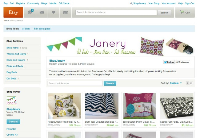 Janery Etsy Shop Handmade Biz 101 | The Borrowed Abode