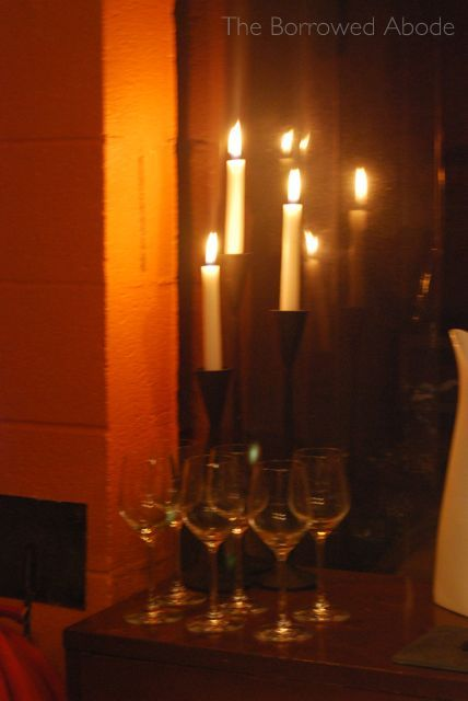 Candles Linden Cellar Oct 2012 | The Borrowed Abode