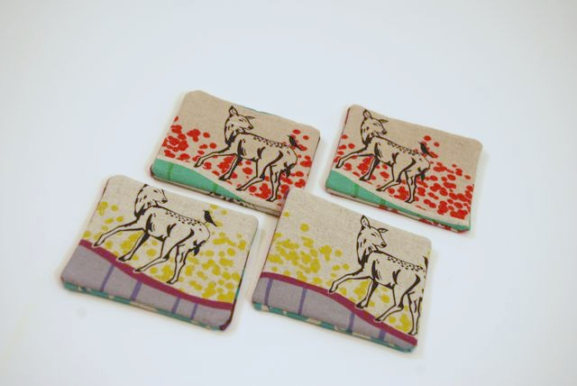 Waterproof Fabric Deer Coasters by ShopJanery on Etsy