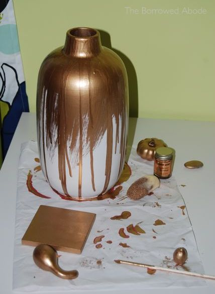 Gold-Dipped Vase Craft Fail | The Borrowed Abode