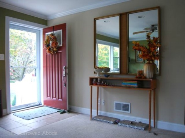 Entryway Fall Decor 2012 | The Borrowed Abode