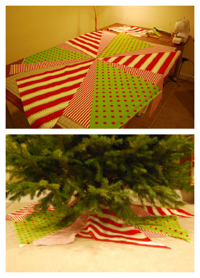 Christmas Tree Skirt Progress
