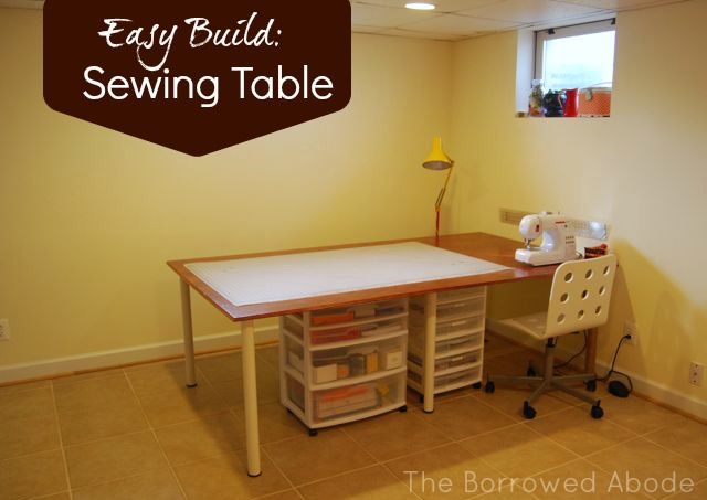 Easy Build DIY Sewing Crafting Table | The Borrowed Abode