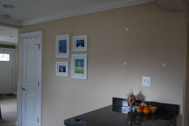 Dining Room Beginning Art Gallery Wall | The Borrowed Abode