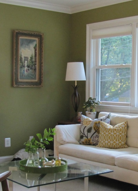 Living Room Oil Painting Corner | The Borrowed Abode