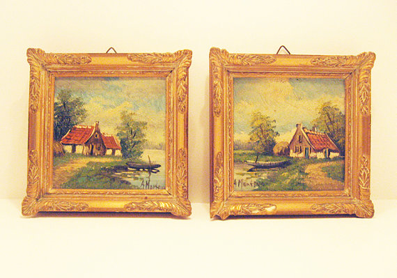 Miniature Dutch Oil Paintings