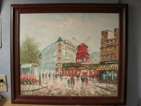 Moulin Rouge Oil Painting via ShopOnSherman on Etsy