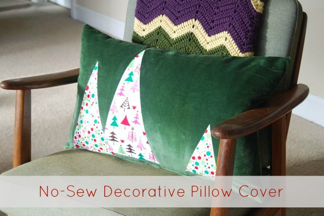 DIY Easy NoSew Applique Pillow Covers The Borrowed AbodeThe Simple No Sew Decorative Pillows