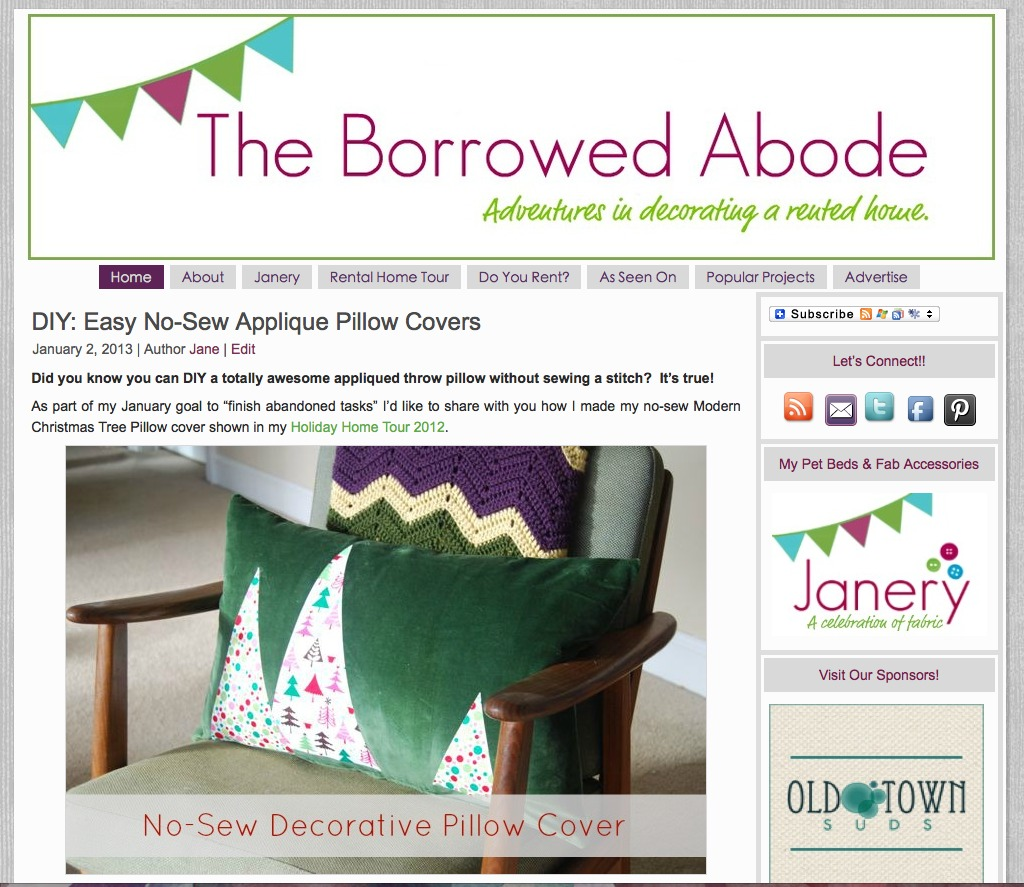 Old TBA Blog Template Design | The Borrowed Abode