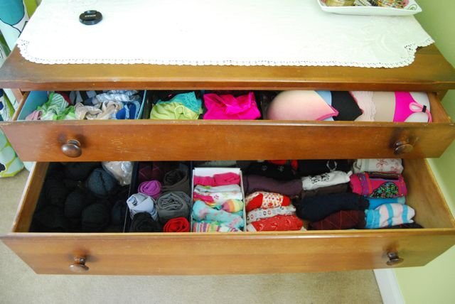Organizing drawers with cardboard boxes | The Borrowed Abode