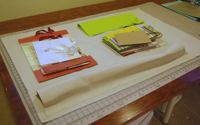 DIY Hanging Gift Wrap Organizer Step 1 | The Borrowed Abode