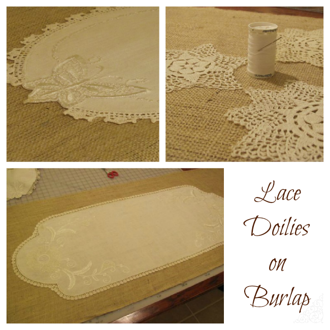 Burlap and Lace Wedding Table Runners | The Borrowed Abode