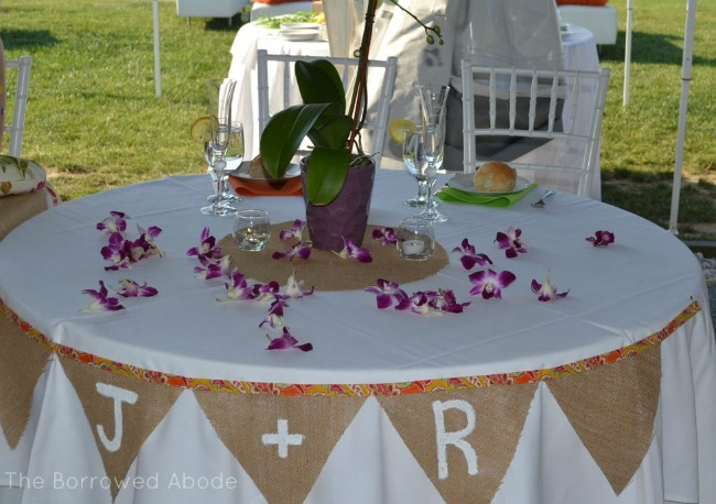 Wedding Sweetheart Table | The Borrowed Abode