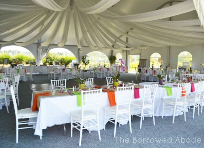Caribbean Wedding Tent Decor Herrington on the Bay  | The Borrowed Abode
