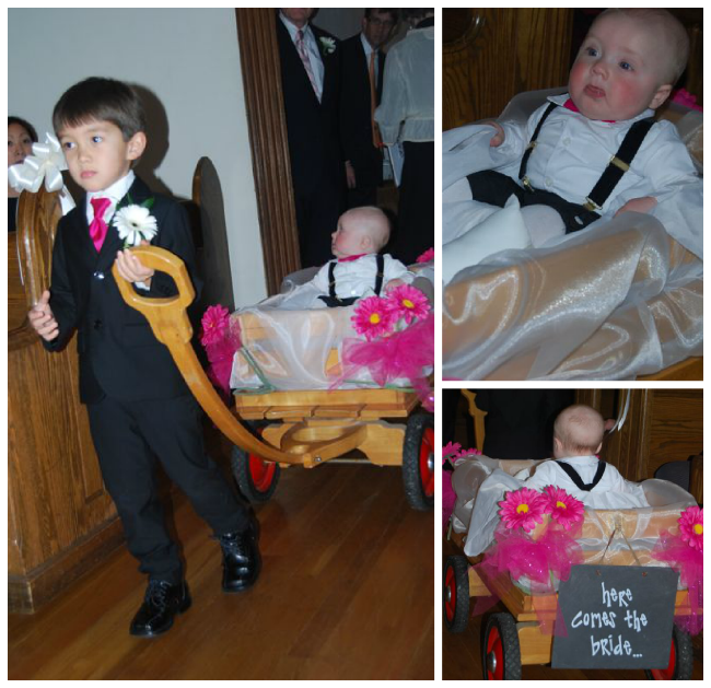 Baby Ring Bearer Wedding Wagon | The Borrowed Abode
