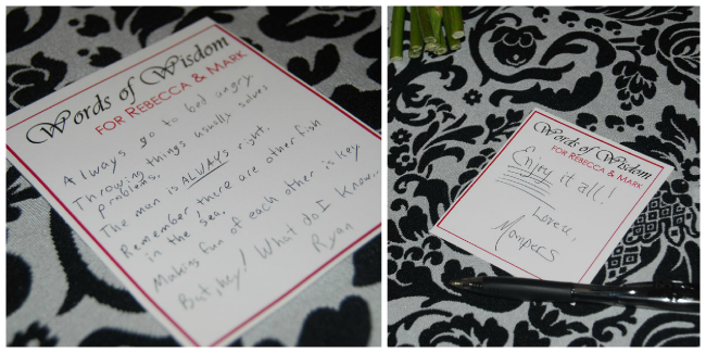Reebs Marriage Advice Cards