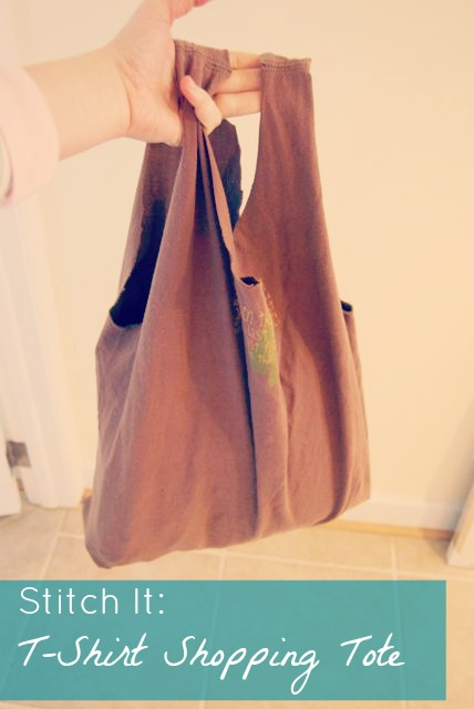 T-Shirt Shopping Tote Tutorial | The Borrowed Abode