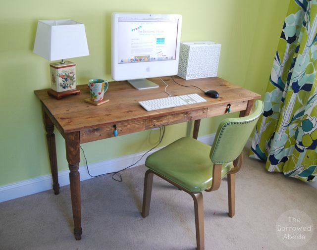 Rustic Farmhouse DIY Desk | The Borrowed Abode