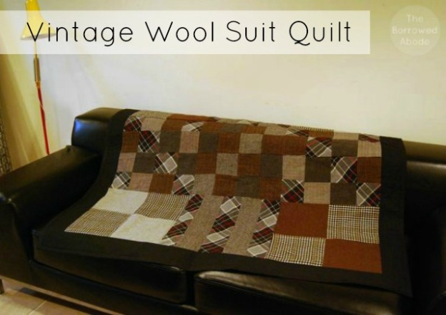 Vintage Wool Suit Quilt | The Borrowed Abode
