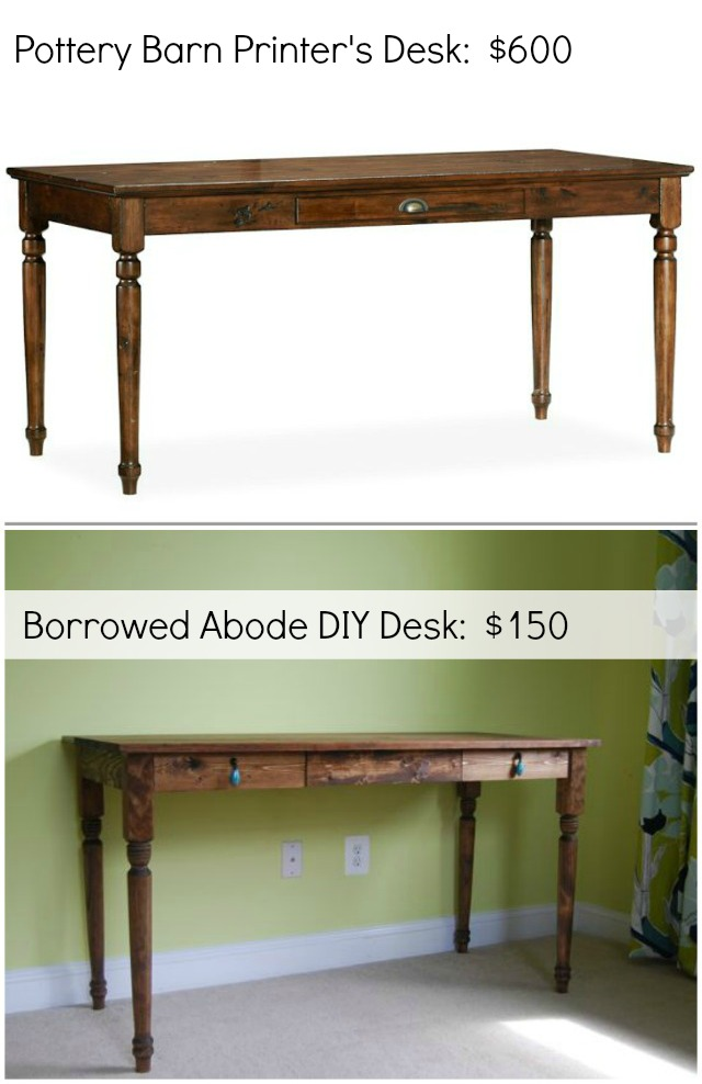 Diy Pottery Barn Inspired Desk The Borrowed Abode