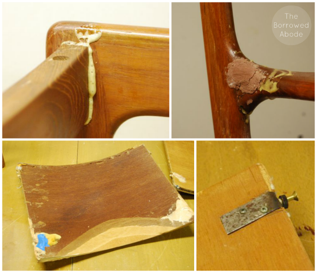 Damaged Danish Modern Chairs | The Borrowed Abode