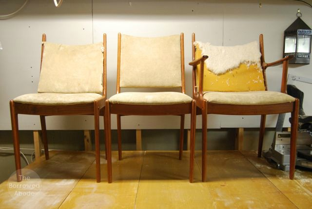 Fixing Danish Modern Chairs | The Borrowed Abode
