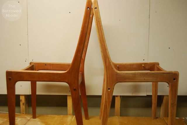 Refinishing Danish Modern Chair Frames | The Borrowed Abode