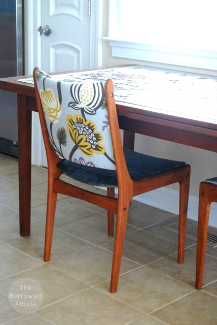 Mid-Century Modern Dining Chair & Table | The Borrowed Abode