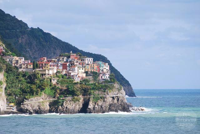 Manarola from Corniglia | The Borrowed Abode
