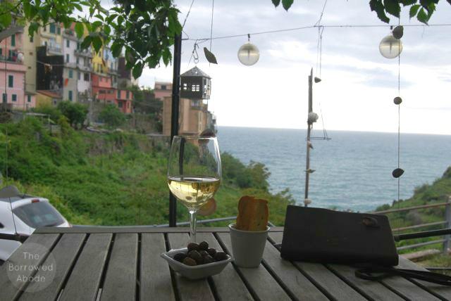 Corniglia Outdoor Wine Cinque Terre | The Borrowed Abode