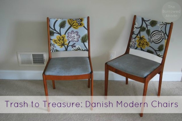 Danish Modern Chair Trash to Treasure