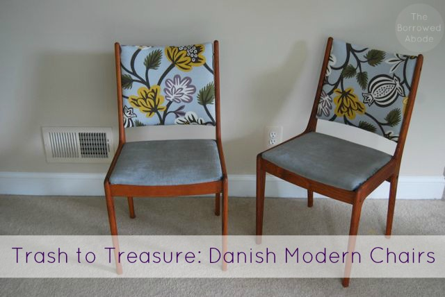 Danish Modern Chair Trash to Treasure | The Borrowed Abode