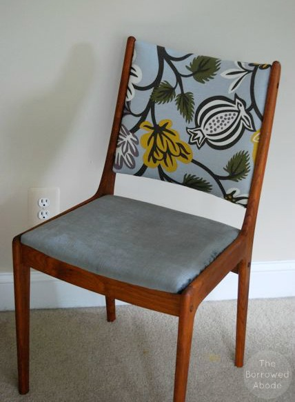 Reupholstering Danish Modern Chair Frames | The Borrowed Abode