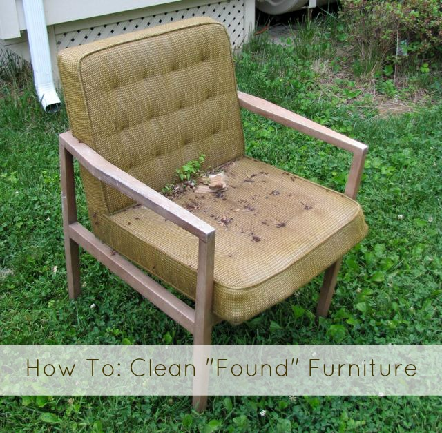 How To Clean Found Furniture