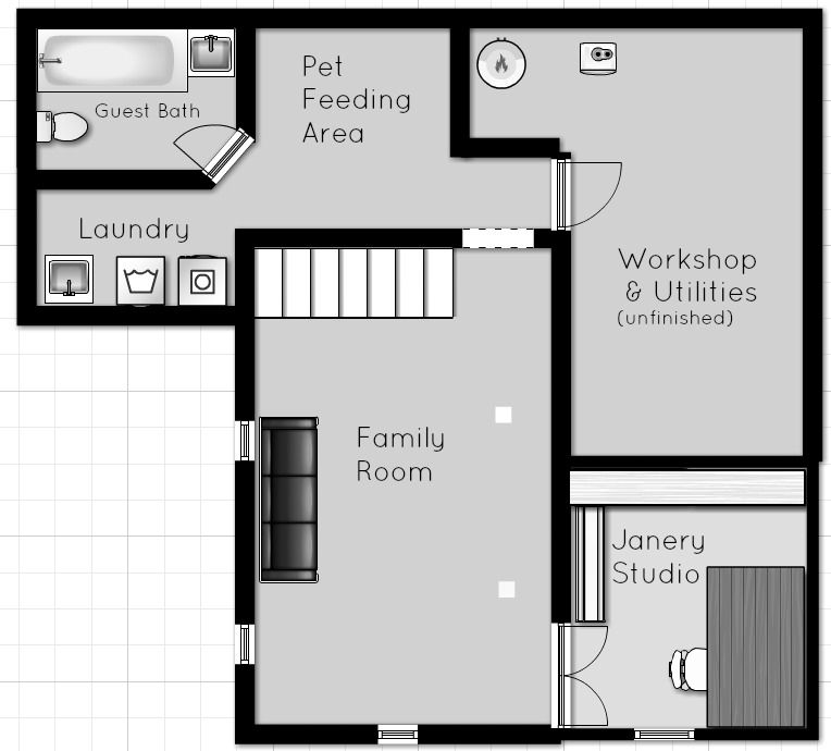 The Borrowed Abode Basement Floor Plan