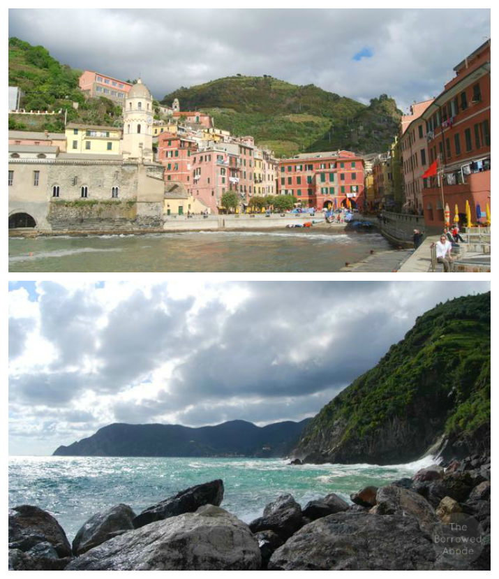 Vernazza View from Harbor Cinque Terre | The Borrowed Abode