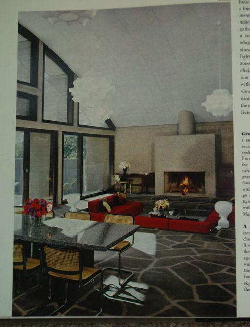 Vintage Sunken Living Room | The Borrowed Abode