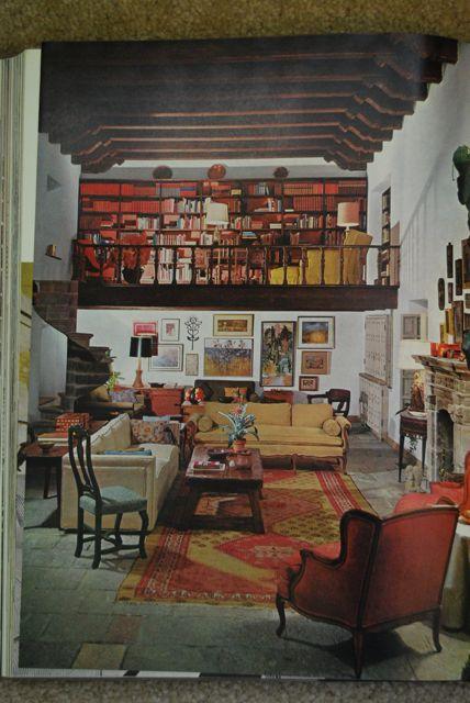 Vintage Earthy Lofted Living Room  | The Borrowed Abode