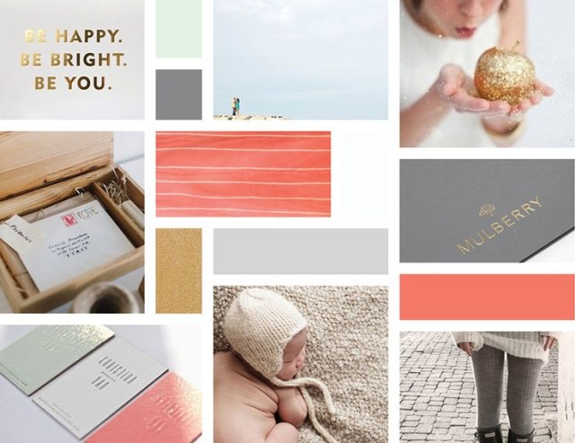 Coral Gray Gold Color Palette via 315 Design