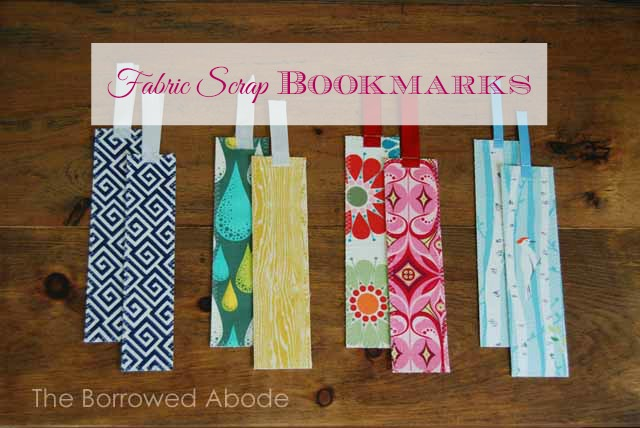DIY Fabric Scrap Bookmarks Tutorial