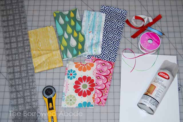 DIY Fabric Bookmark Supplies
