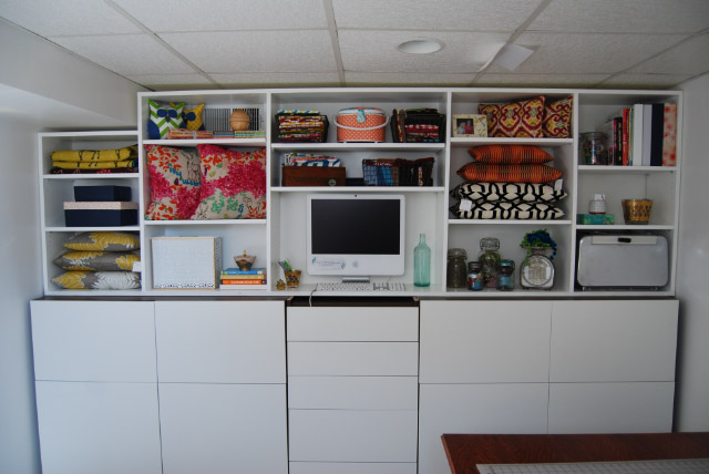 Janery Studio Makeover Part 9: Unifying the Faux Built-In Cabinet ... - Besta Ikea White Creative