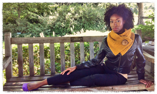 Mustard Knit Neckwarmer by Wise Owl Shop