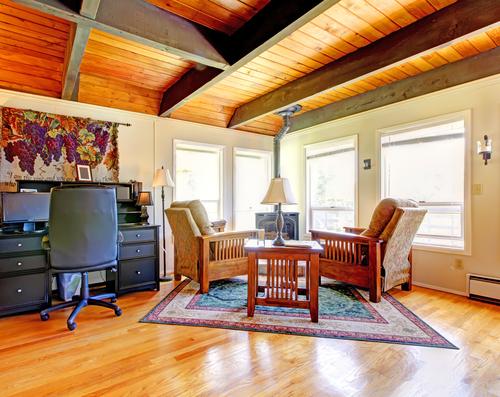 hardwood floor rug