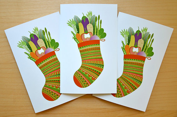 Funnelcloud Studio Veggie Christmas Cards